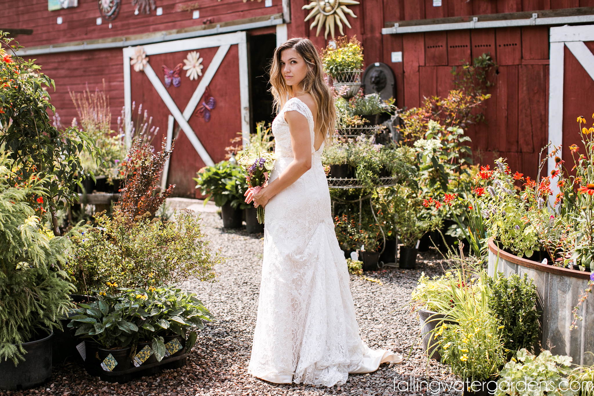 Bride at the Nursery