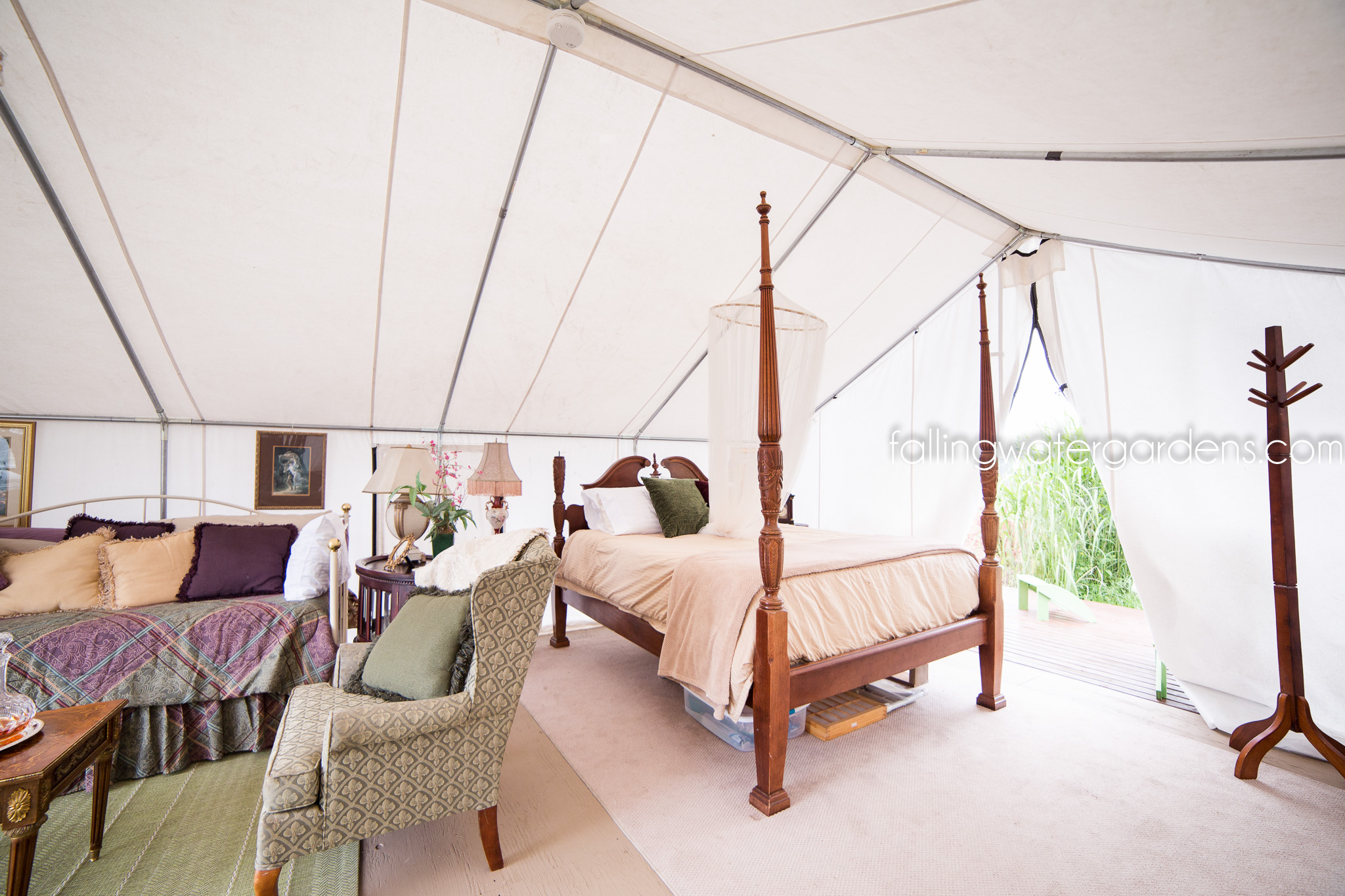 Interior of Glamping Tent