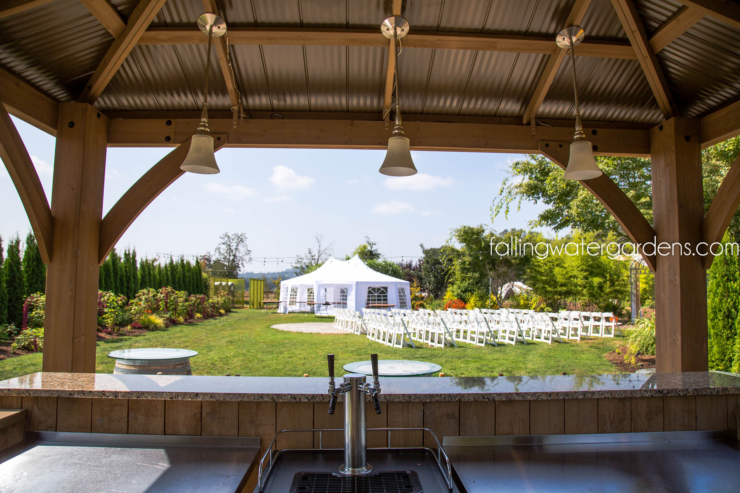 Wedding Lawn View From Bar Area